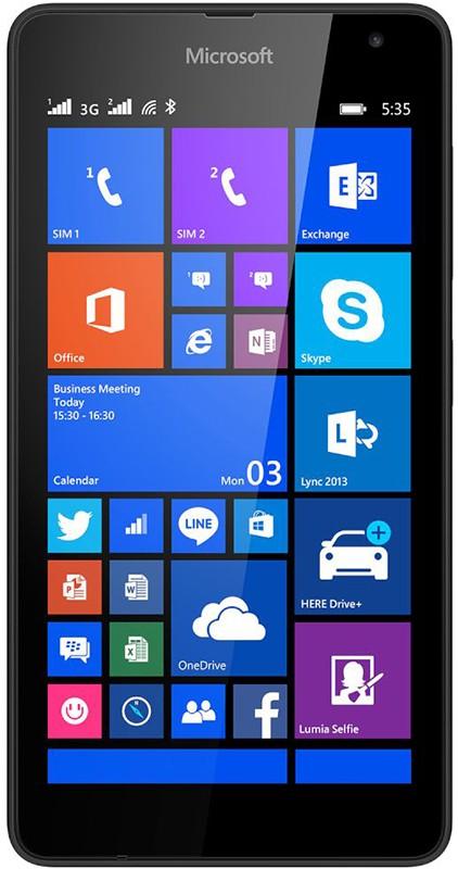 Смартфон Microsoft Lumia 535 Dual SIM Black - Фото 1