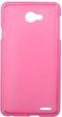 Чехол-накладка Drobak Elastic PU для Fly IQ4403 Pink/Clear - Фото №2