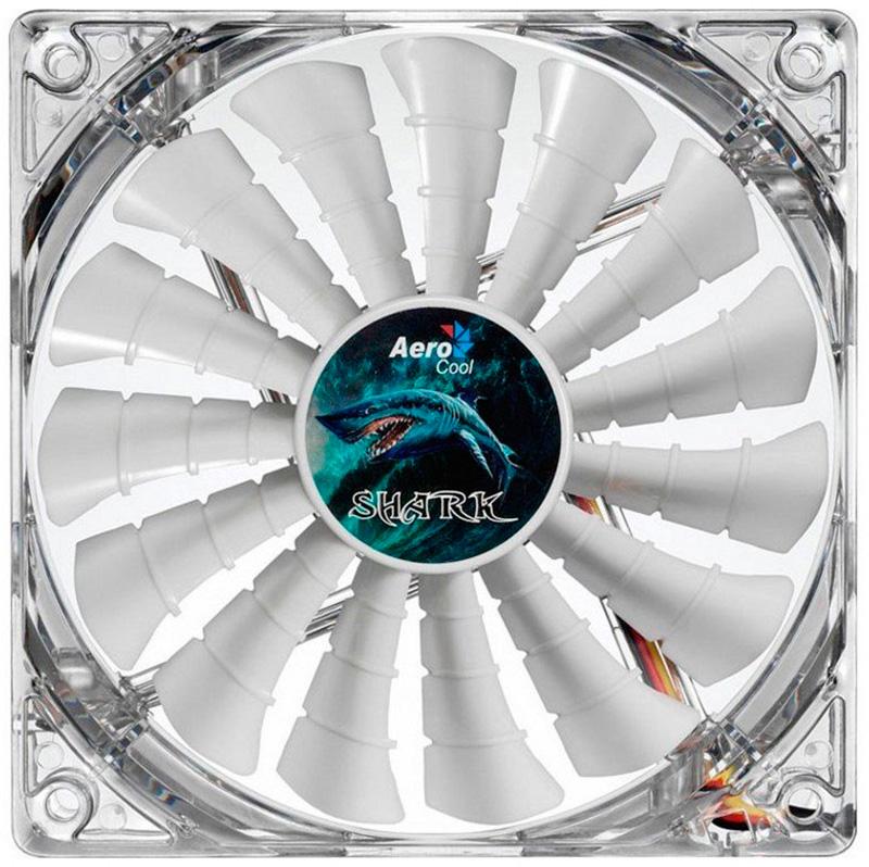 Купить Кулеры и системы охлаждения, Aerocool Shark Fan 120 White Edition (4710700955505)