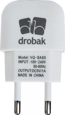 Сетевое зарядное устройстройство Drobak Power 220V-USB сетевое White - Фото 1