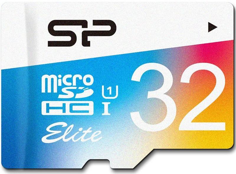 Карта памяти Silicon Power microSDHC 32GB Class 10 UHS-I Elite Color + adapter - Фото 1