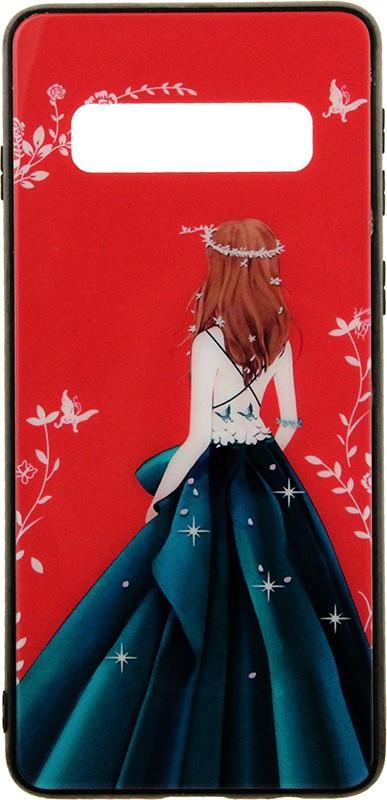 Купить Чехлы для телефонов, TOTO Glass Fashionable Case Samsung Galaxy S10 Green Dress Girl