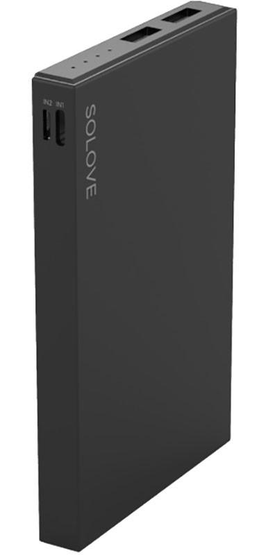 Портативная батарея Solove S2 Power Bank 10000mAh Black - Фото 1
