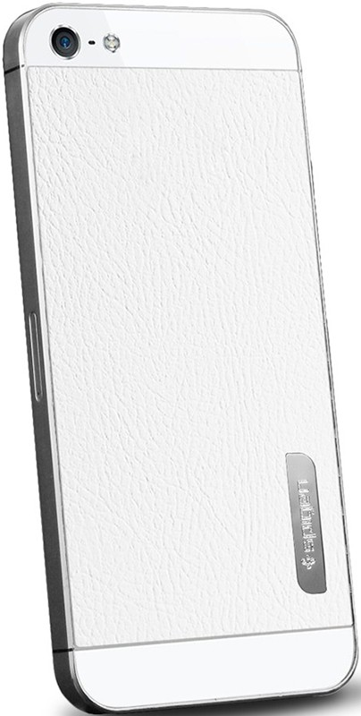 Чехол-накладка Spigen Skin Guard Set Series Leather White для iPhone 5 - Фото 1