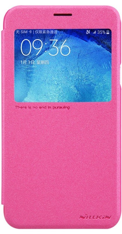 Чехол-книжка Nillkin Sparkle case Samsung Galaxy J5 J510 Red - Фото 1