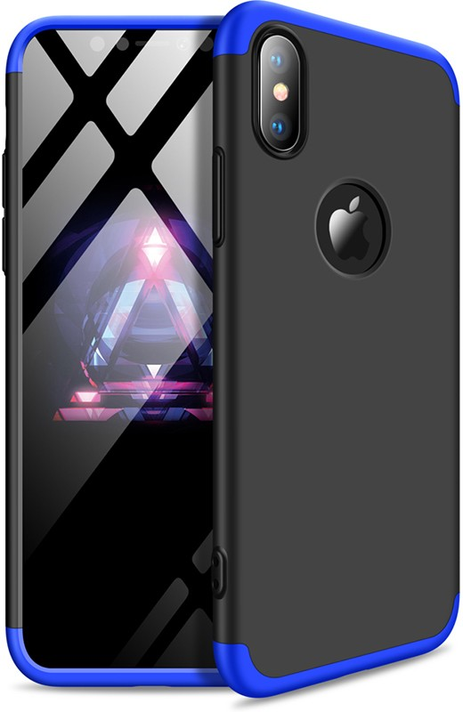 GKK 3 in 1 Hard PC Case Apple iPhone XS Blue/Black