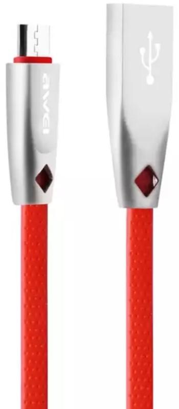 Купить Кабели и переходники, AWEI CL-96 Micro cable 1m Red