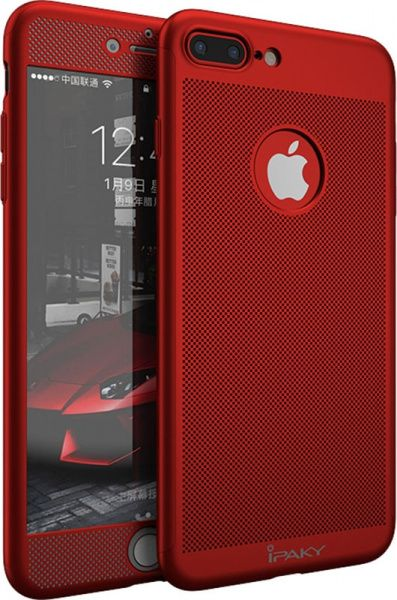 Ipaky 360 Mesh PC Heat Dissipation cover case 3 in 1 iPhone 7 Plus Red - фото
