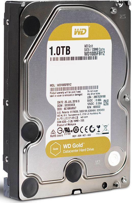 Купить Жесткие диски, WD 3.5 SATA 3.0 1TB 7200rpm Cache 128MB Gold