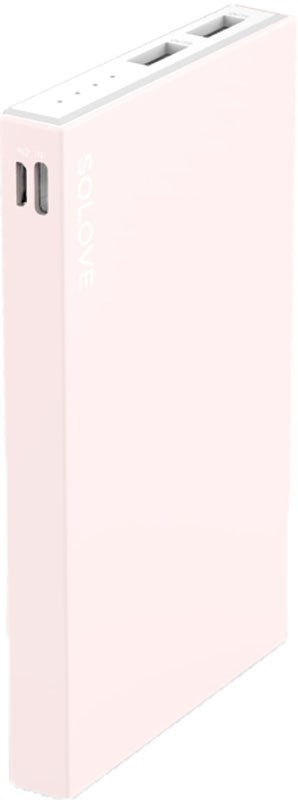 Портативная батарея Solove S2 Power Bank 10000mAh Pink - Фото 1