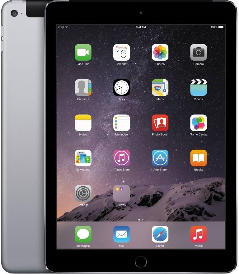 Планшет Apple A1567 iPad Air 2 Wi-Fi + LTE 4G 16Gb (MGGX2TU/A) Space Gray - Фото 1