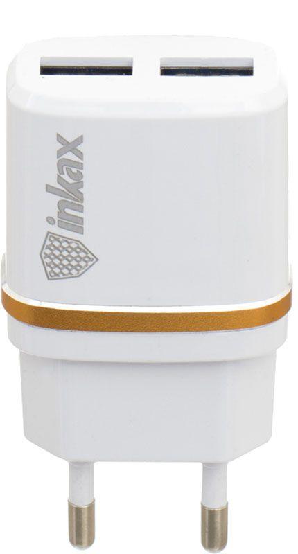 Купить Зарядные устройства, INKAX CD-11 Travel charger + Lightning cable 2USB 2.4A White