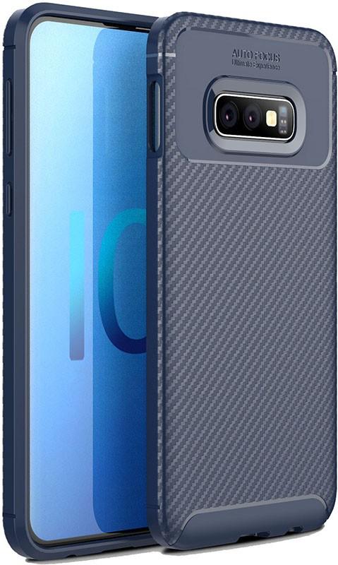 Чехлы для телефонов, TOTO TPU Carbon Fiber 1, 5mm Case Samsung Galaxy S10e Dark Blue  - купить со скидкой