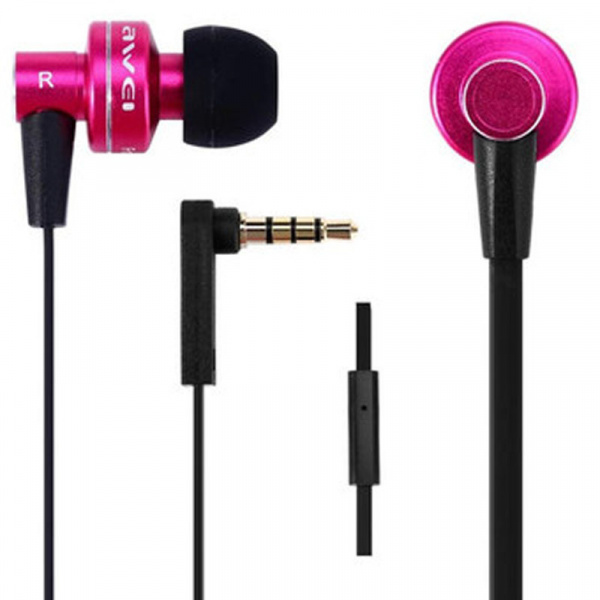 AWEI ES900i Wired Earphones Pink - фото