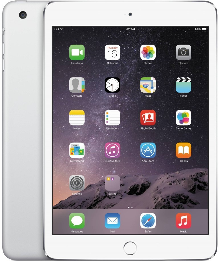 Планшет Apple A1538 iPad mini 4 Wi-Fi 16GB (MK6K2RK/A) Silver - Фото 1