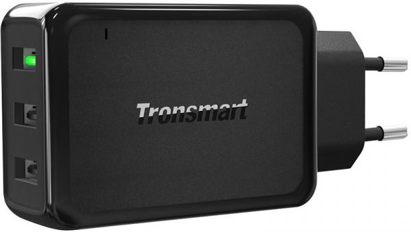 Tronsmart W3PTA 42W Quick Charge 3.0 USB Wall Charger Black - фото
