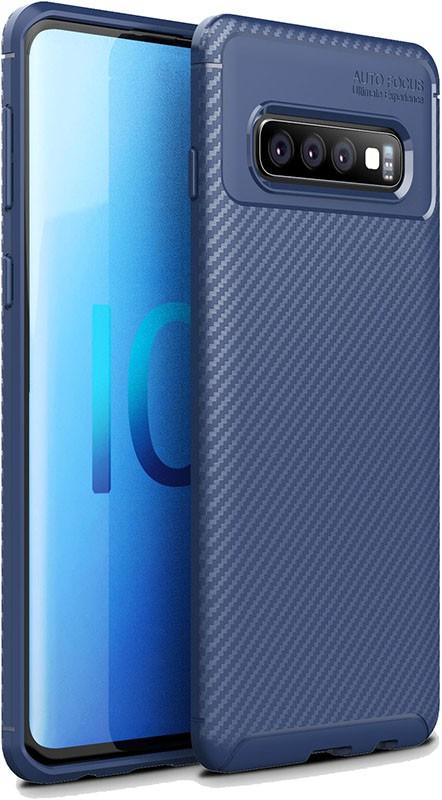 Купить Чехлы для телефонов, TOTO TPU Carbon Fiber 1, 5mm Case Samsung Galaxy S10+ Dark Blue