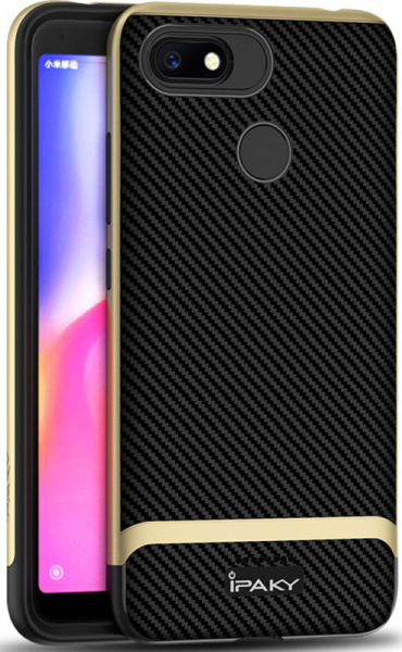 Ipaky Bumblebee Series/ PC Frame with TPU Case Xiaomi Redmi 6A Gold - фото