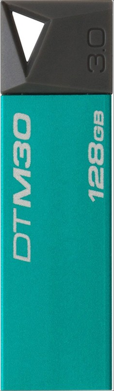 USB Flash Kingston DataTraveler M30 Mini 128Gb USB 3.0 Emerald - Фото 1