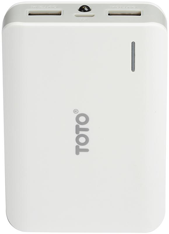 Портативная батарея TOTO TBG-23 Power Bank 7800 mAh 2USB 3,1A Li-Ion White - Фото 1