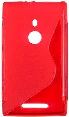 Чехол-накладка Drobak Elastic PU для Nokia Lumia 925 Red - Фото №1