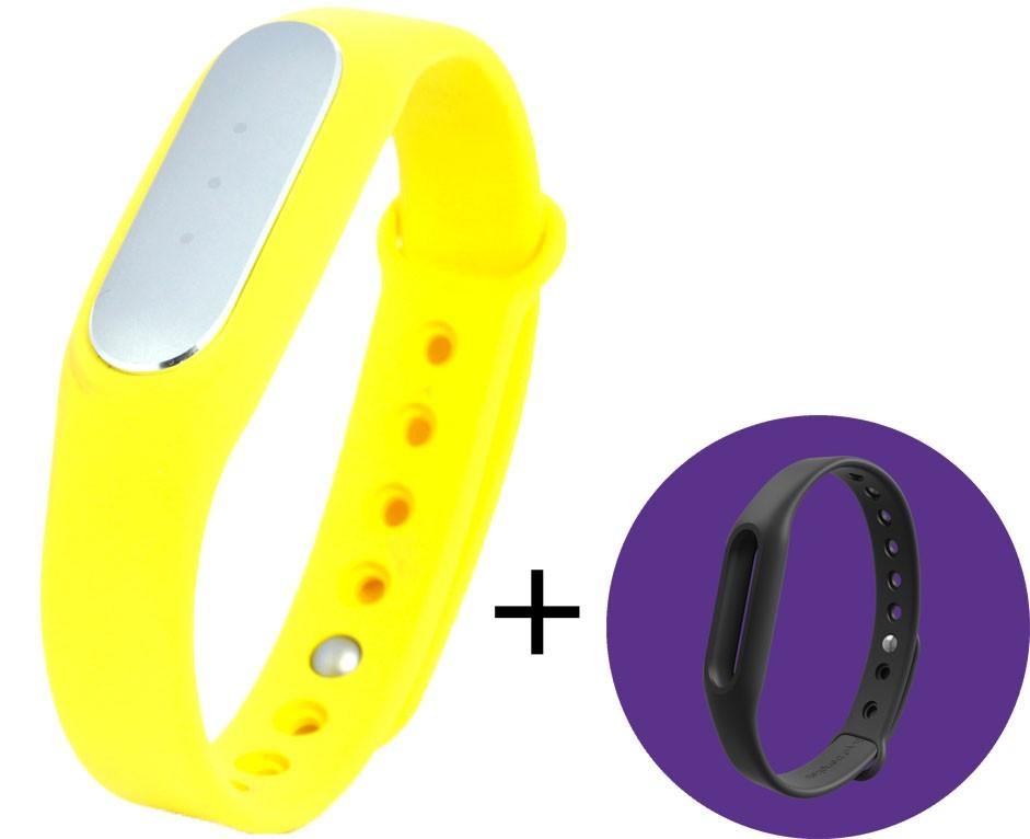 Фитнес-браслет Xiaomi Mi Band 1S Pulse Yellow + черный ремешок в подарок - Фото 1