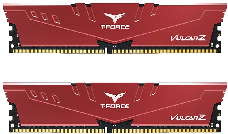 Купить Оперативная память, Team 8 GB (2x4GB) DDR4 2666 MHz T-Force Vulcan Z Red (TLZRD48G2666HC18HDC01)