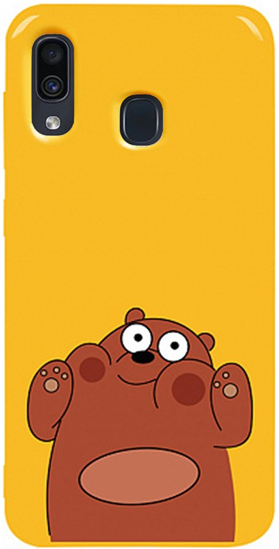 Купить Чехлы для телефонов, TOTO Pure TPU 2mm Print Case Samsung Galaxy A20/A30 #56 Bear Ups Yellow