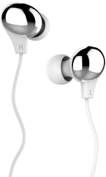 Usams US-SJ063 Color Beans Plating In-ear Earphone Ewave series Silver - фото