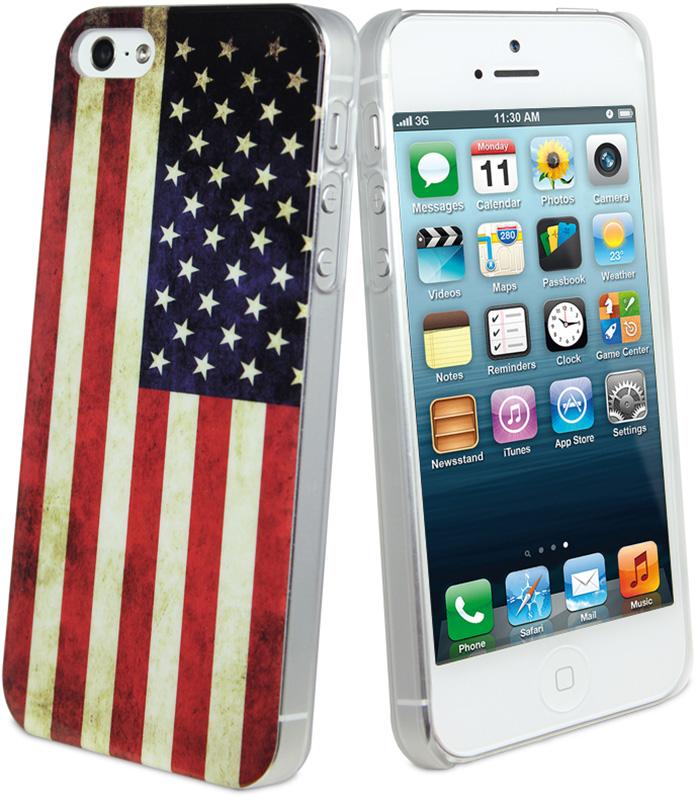 Купить Чехлы для телефонов, Muvit VINTAGE USA FLAG MATT COVER для iPhone5