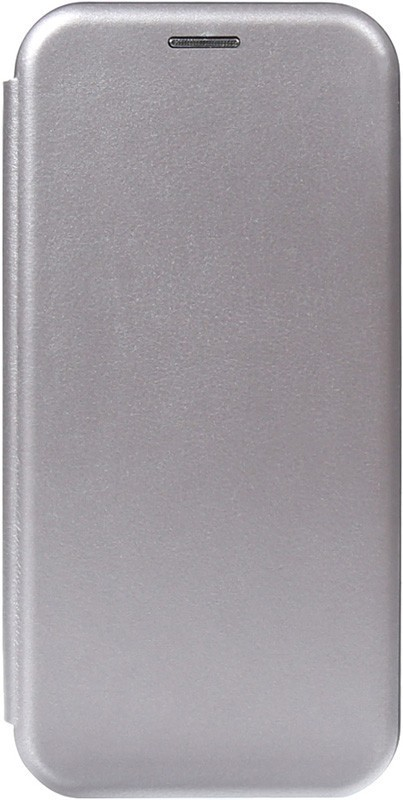 TOTO Book Rounded Leather Case Huawei Y5 2019 Gray