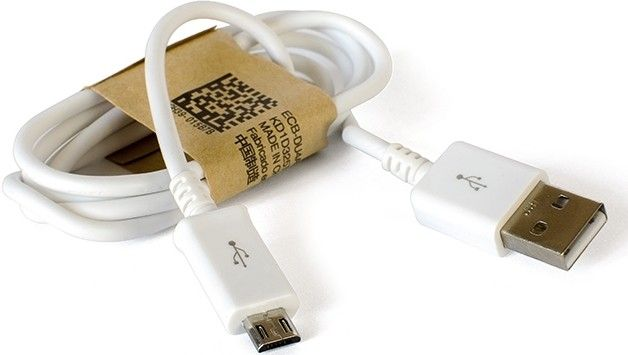 Кабель Drobak USB 2.0 AM-microUSB 1m White - Фото 1