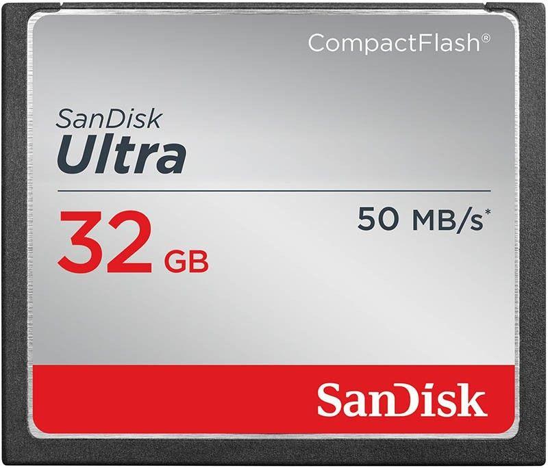Карта памяти SanDisk Ultra CompactFlash Ultra 32GB R50MB/s - Фото 1