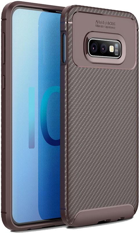 Купить Чехлы для телефонов, TOTO TPU Carbon Fiber 1, 5mm Case Samsung Galaxy S10e Coffee
