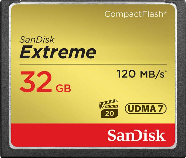 SanDisk CompactFlash Extreme R120/W85MB/s 32Gb