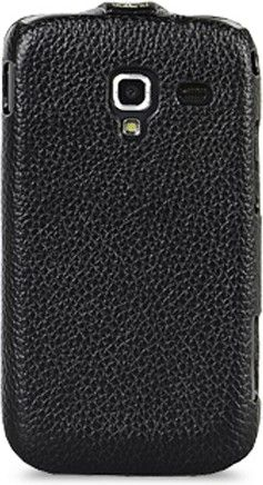 Чехол-флип Melkco Leather Case Jacka для Samsung Galaxy Ace 2 I8160 Black - Фото 1
