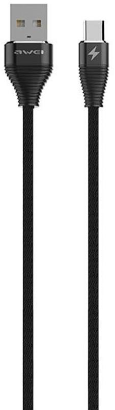 Купить Кабели и переходники, AWEI CL-29 Type-C Cable 2m Black