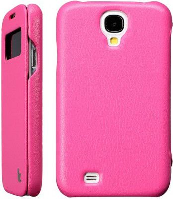 Чехол-флип Jisoncase Premium Leatherette Folio Case для Samsung Galaxy S4 Rose - Фото 1