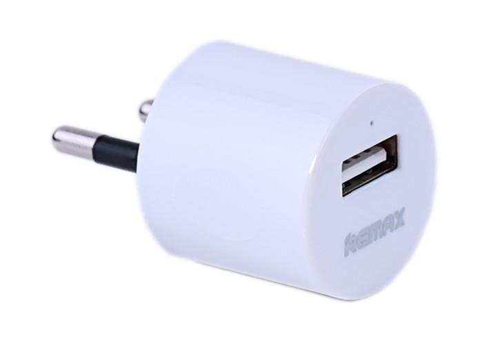 Сетевое зарядное устройство Remax 1A Wall Charger White - Фото 1