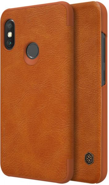 Nillkin Qin Leather Case Xiaomi Mi A2 Lite (Redmi 6 Pro) Brown - фото