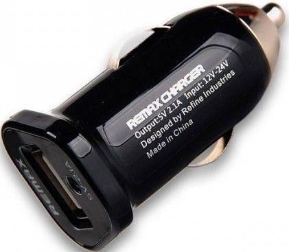 Автомобильное зарядное устройство Remax 2.1 A Car Charger Black - Фото 1
