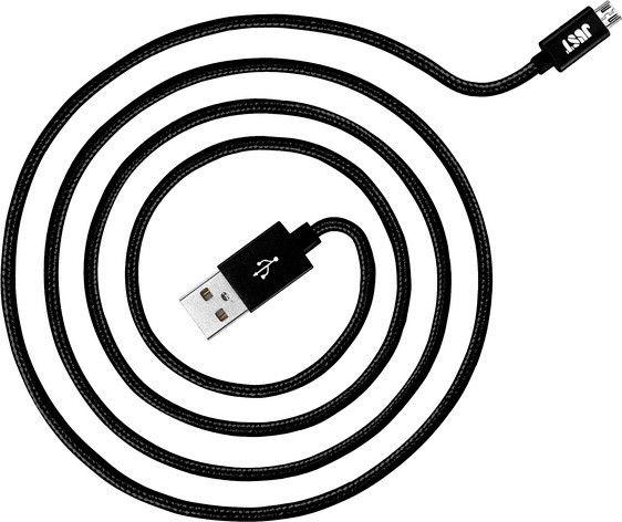 Кабель JUST Cooper Micro USB Cable 2M Black - Фото 1