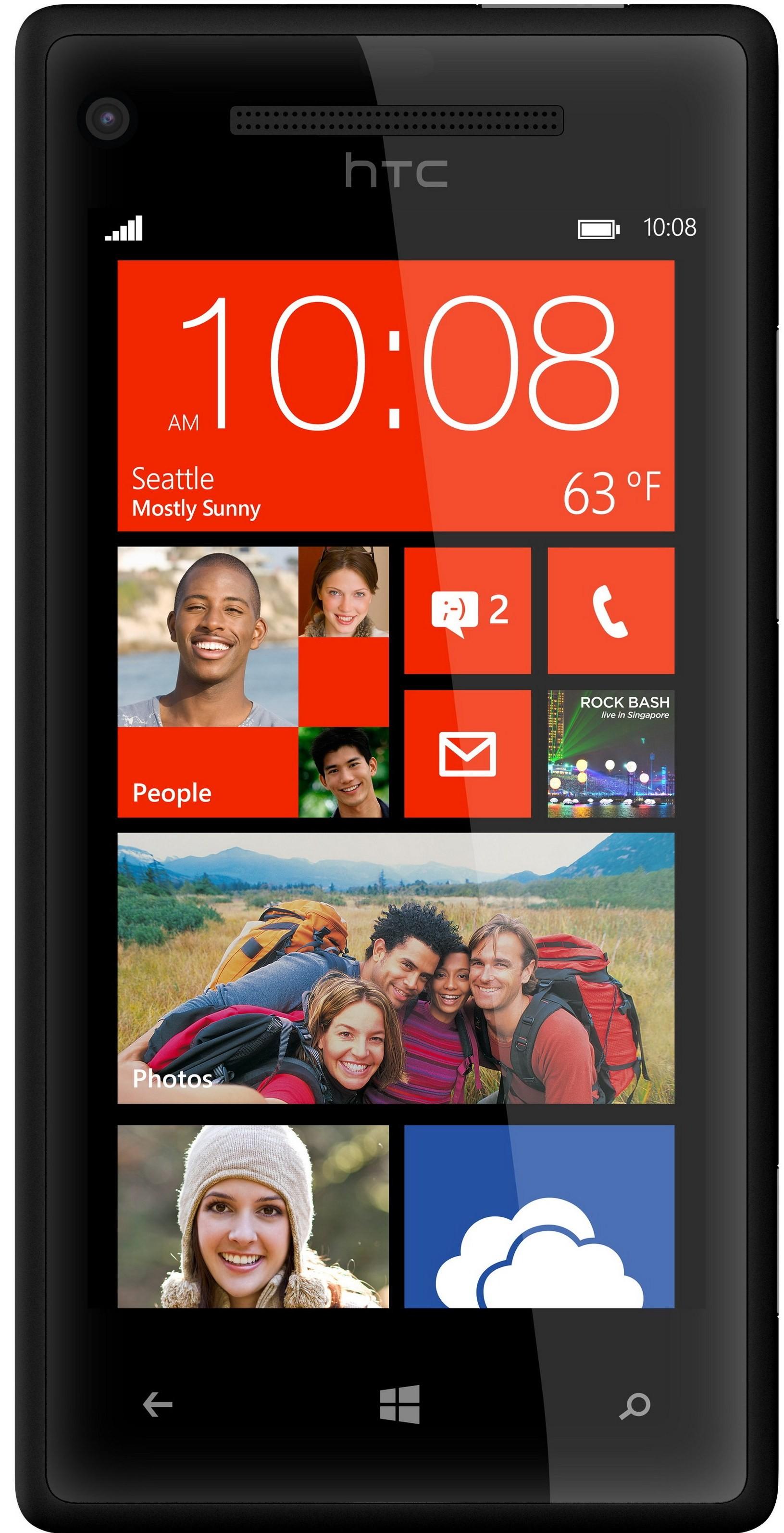 Смартфон HTC Windows Phone C620e Accord 8X Black - Фото 1