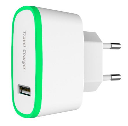 TOTO TZR-07 Travel charger 2USB 2,1A White