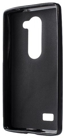 Чехол-накладка Drobak Elastic PU для LG Leon LGH324 Black - Фото 1