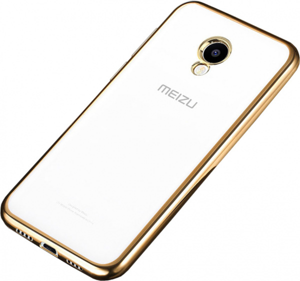 TOTO TPU case Electroplated Meizu M5 Note Gold - фото