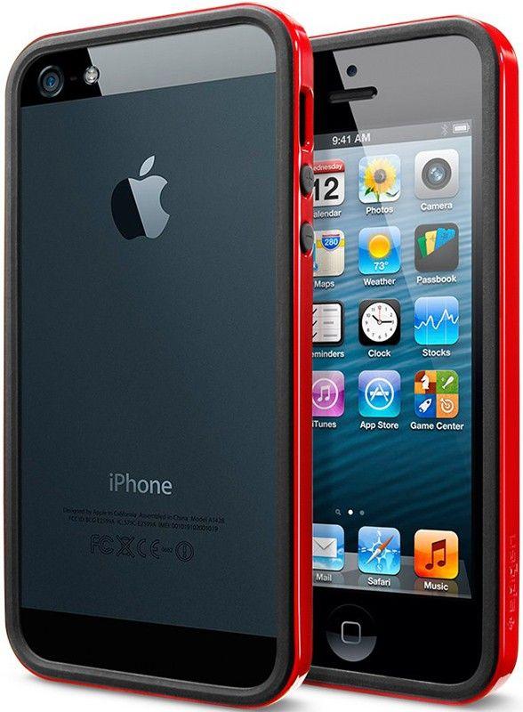 Бампер Spigen Case Neo Hybrid EX Snow Series Dante Red для iPhone 5/5S - Фото 1