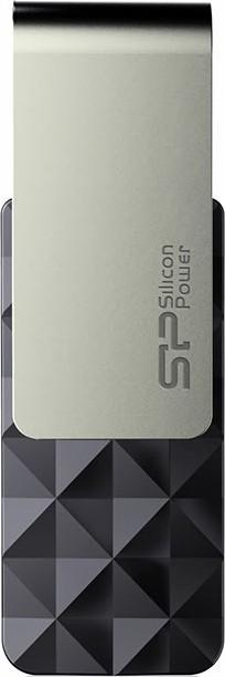 USB Flash Silicon Power Blaze B30 USB 3.0 8Gb Black - Фото 1