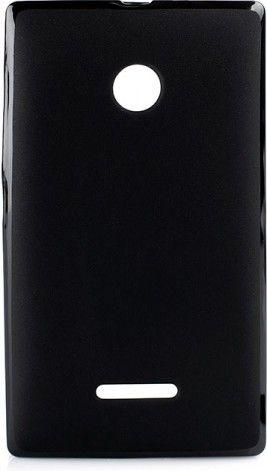 Чехол-накладка NoName Elastic PU для Microsoft Lumia 430 DS Black - Фото 1