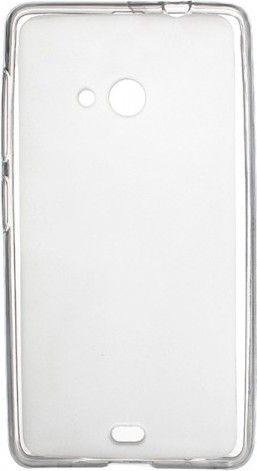 Чехол-накладка Drobak Elastic PU для Microsoft Lumia 535 DS White\Clear - Фото 1
